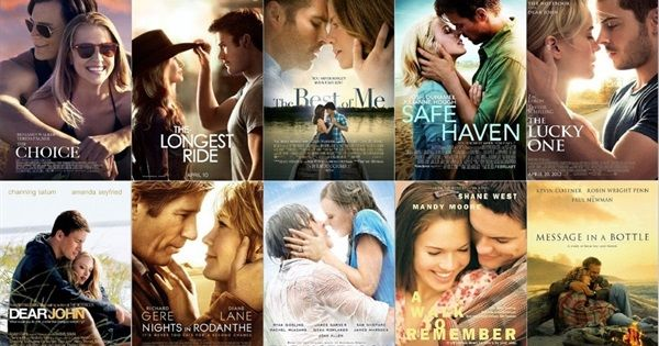 Romance Books made into movies